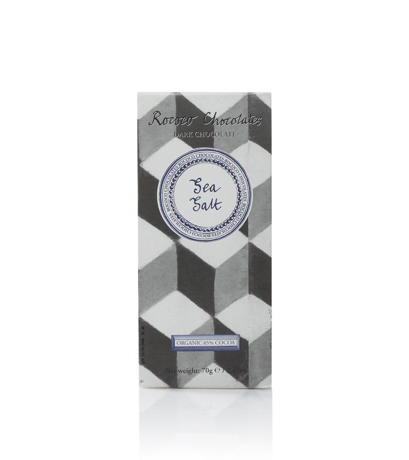 Rococo Chocolates - Organic Sea Salt dark chocolate (Dark 65%)